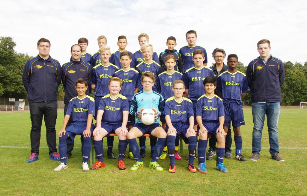 Die aktuelle C-Jugend des TSV Weeze